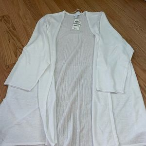 Plus size new Macy's light and long open sweater